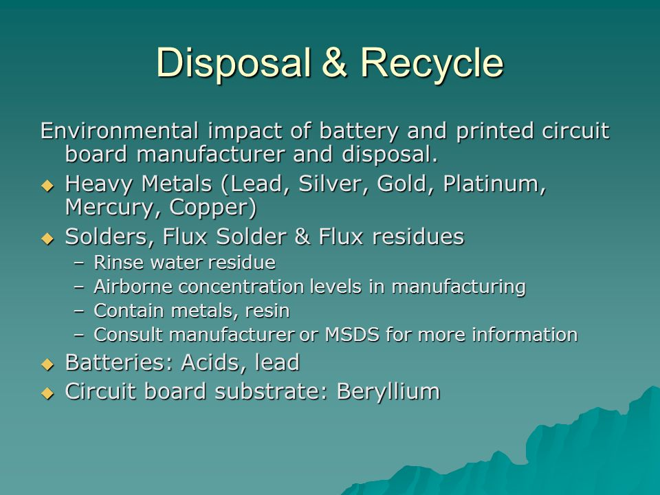Environmental Effects Associated with Battery Disposal