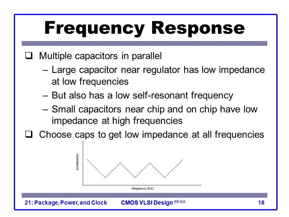 Frequency Response Multiple capacitors in parallel