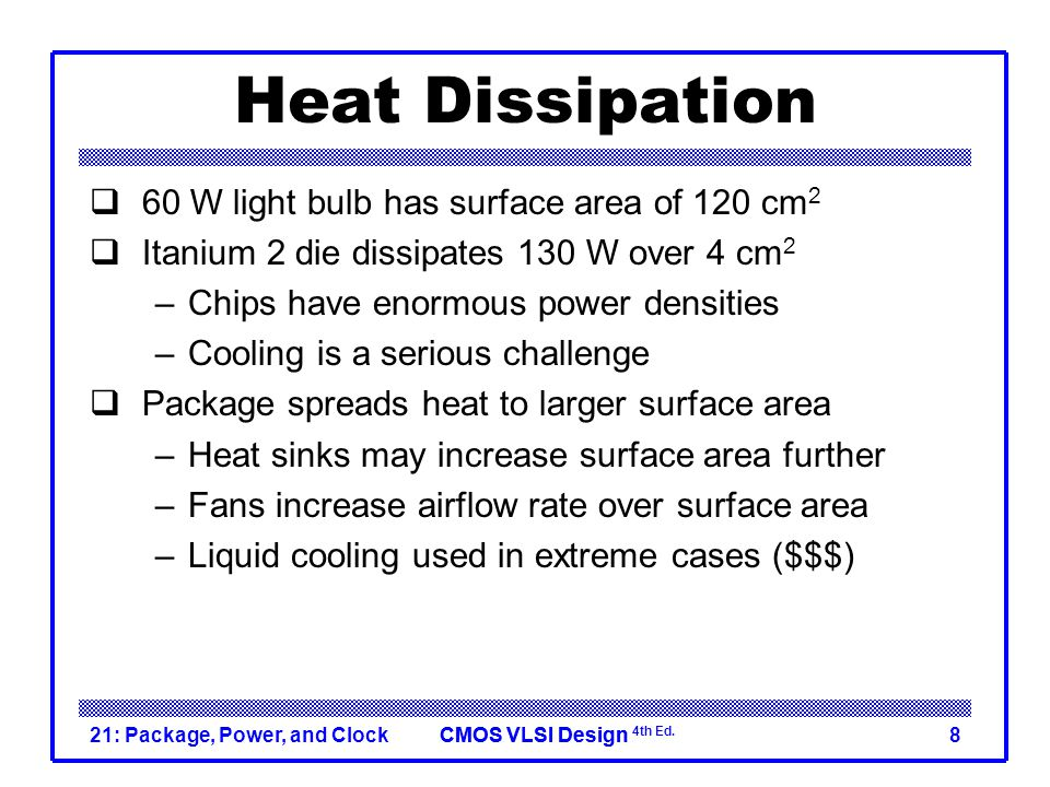 Heat Dissipation 60 W light bulb has surface area of 120 cm2
