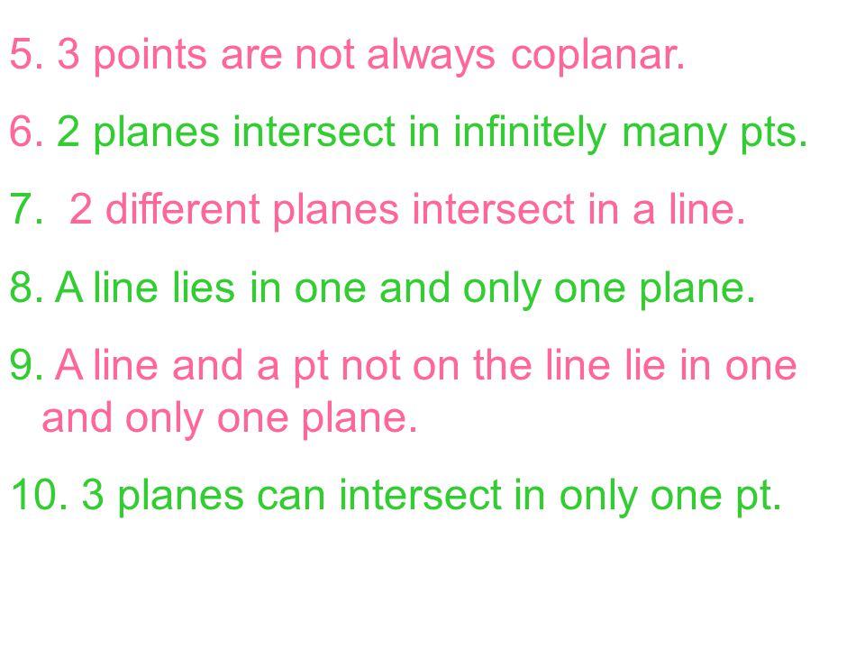 how to solve coplanar 3 planes line