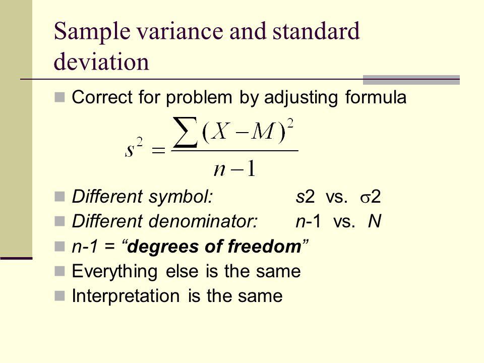 Sample Standard Deviation Symbol Variance And Standard Deviation