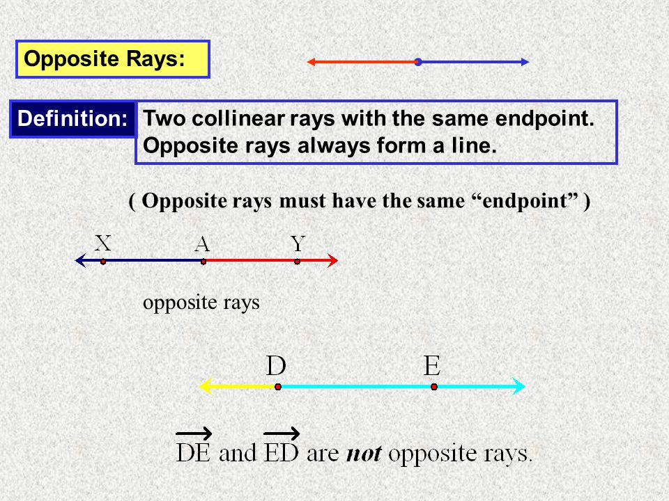 Objectives: Identify segments and rays Recognize parallel lines ...