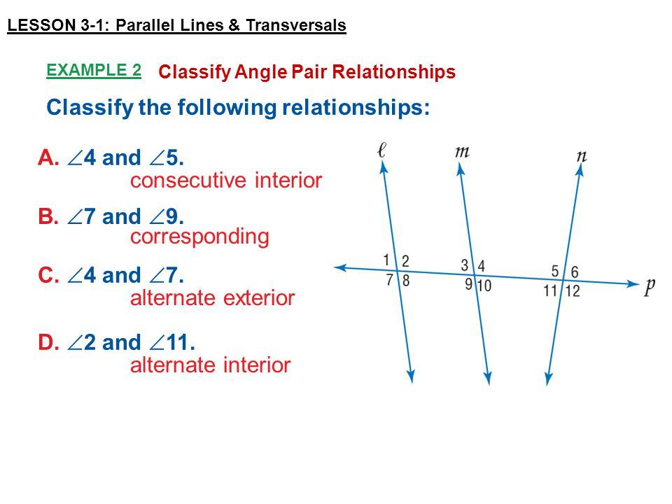 Lesson 3 1 Parallel Lines Transversals Ppt Video Online Download