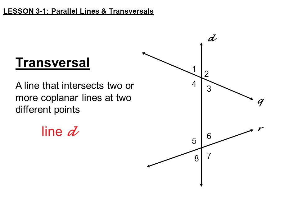 lesson 31 parallel lines amp transversals ppt video
