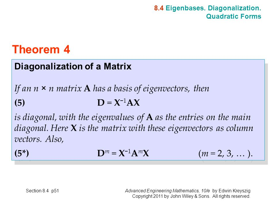 matrix diagonalization how to find p and d