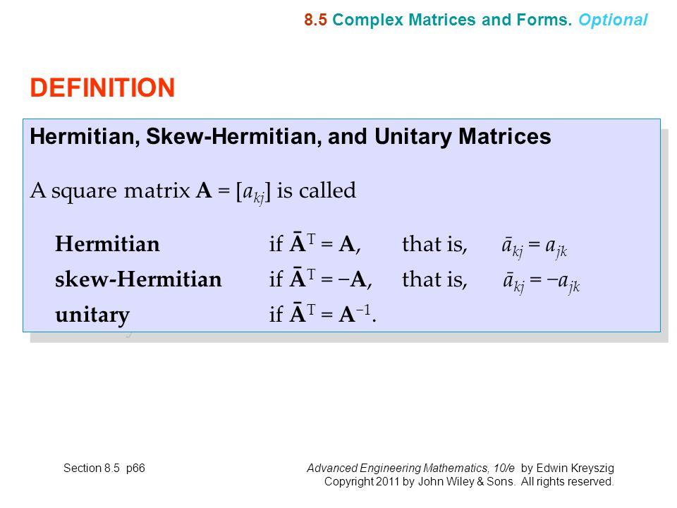 8 CHAPTER Linear Algebra: Matrix Eigenvalue Problems Chapter 8 p1 ...