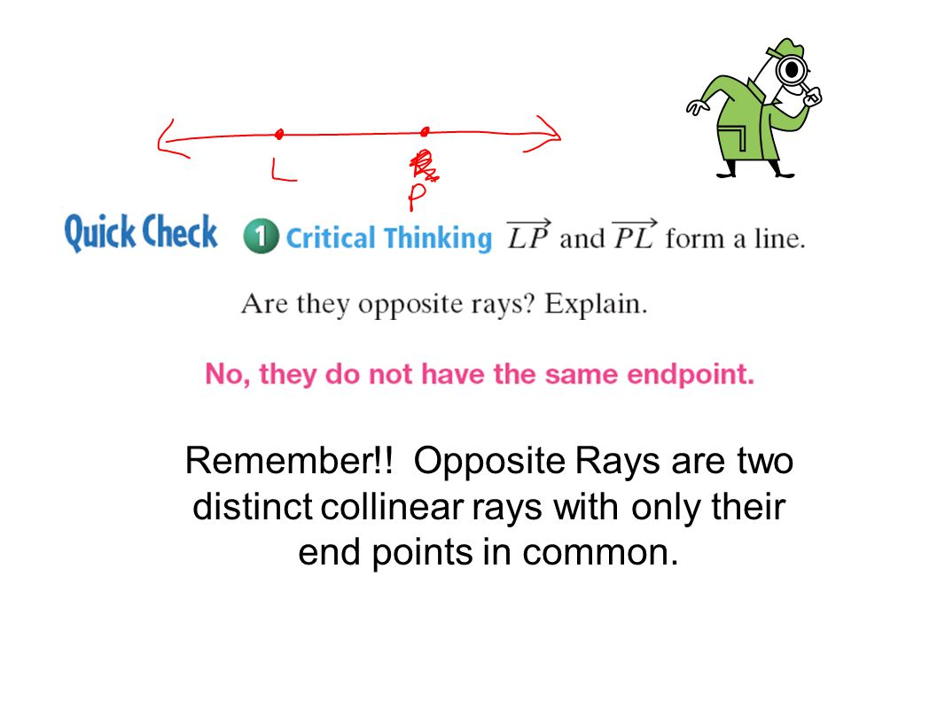 Chapter 1 Section 1-3 Segment, Rays, Parallel Lines, & Planes ...