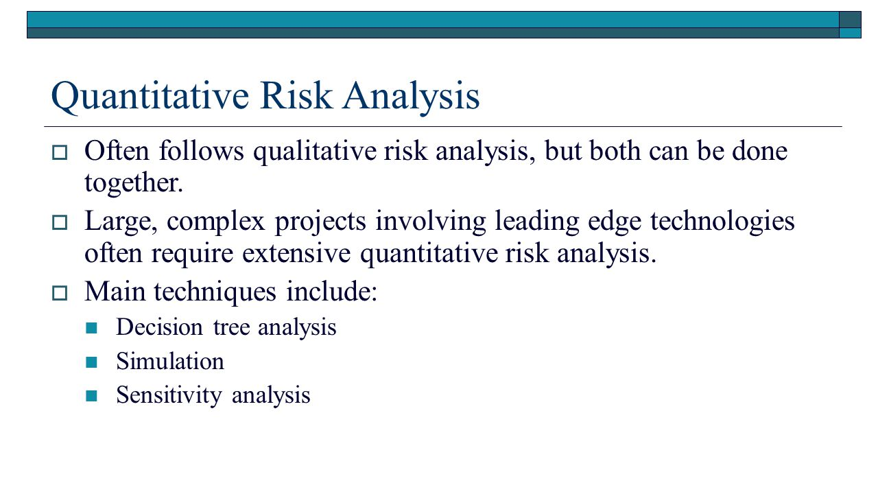 an assessment of quantitative and qualitative risk Qualitative risk analysis quicker and almost as effective as advanced quantitative risk thank you chris for this article about qualitative risk assessment.