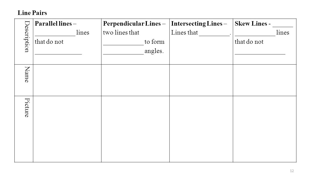 Workbooks Parallel Perpendicular And Intersecting Lines Worksheets