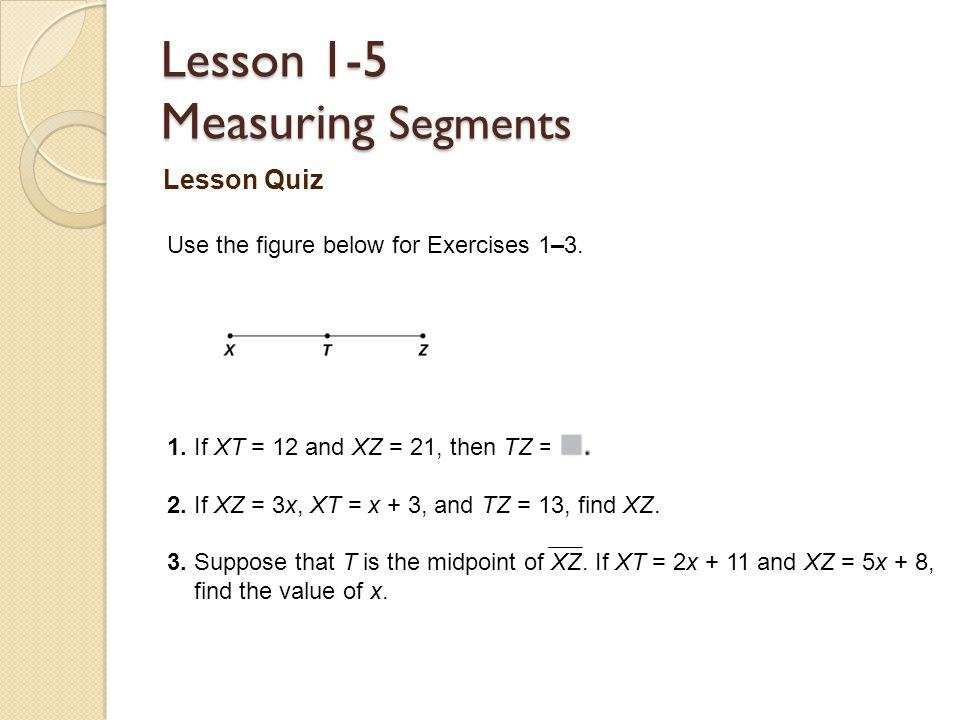 Measuring Segments Worksheets for all   Download and Share ...