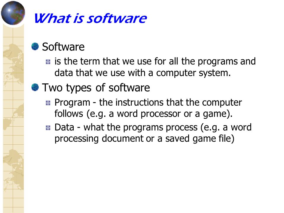 different types of software different types of software