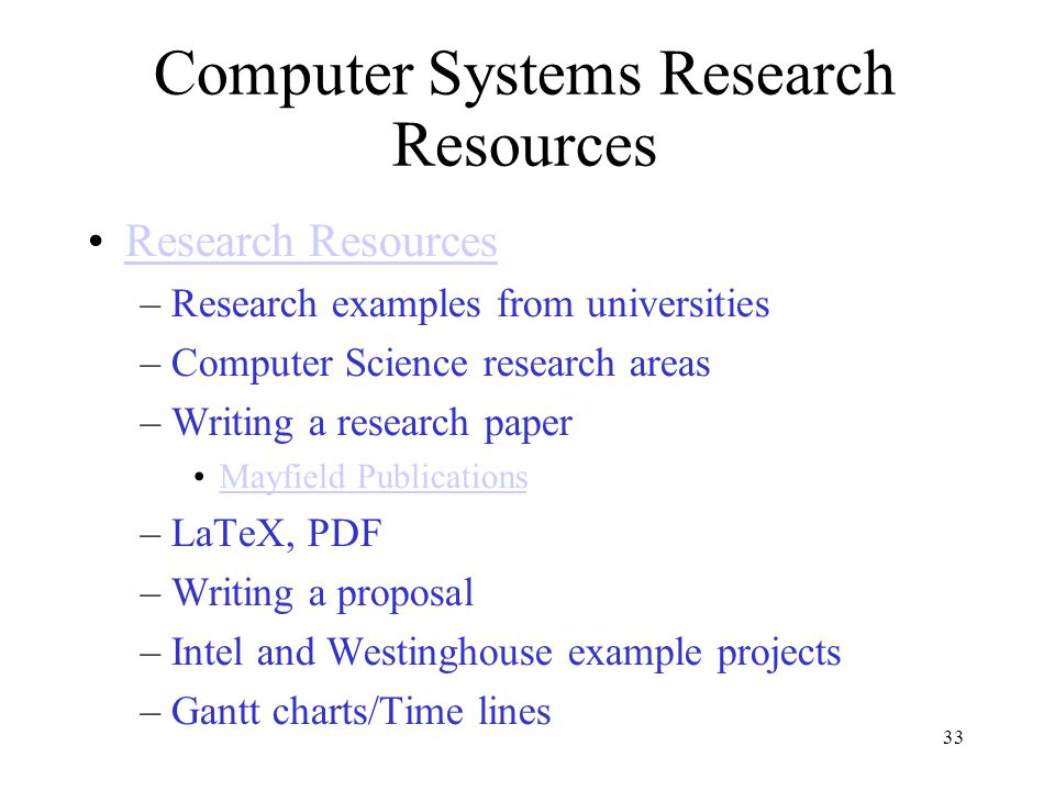 Computer Science Topics List for Project, Thesis, and Research