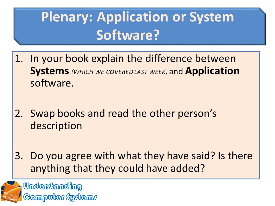 Difference between application software and system software