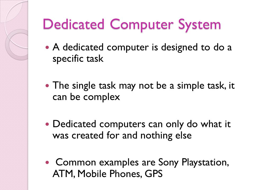 examples of special purpose computer Glossary of computer related terms  some special-purpose conferences may have restricted access,  examples are carriage return,.