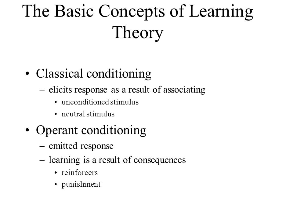 the basic learning concepts