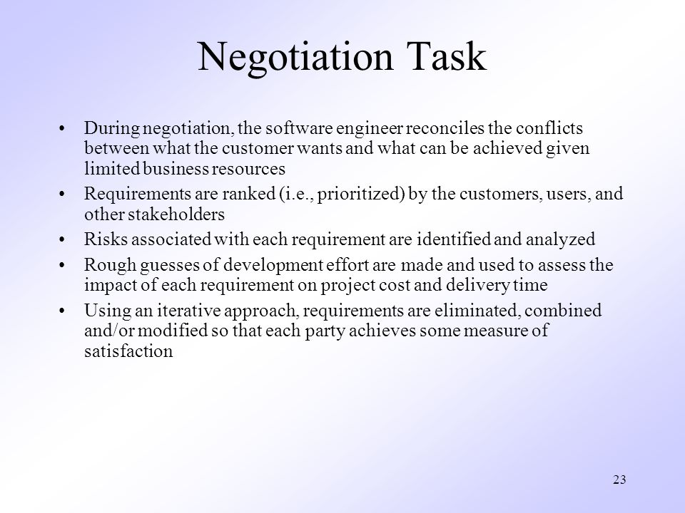Negotiation Task