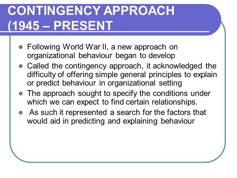 approaches to organisational behaviour pdf