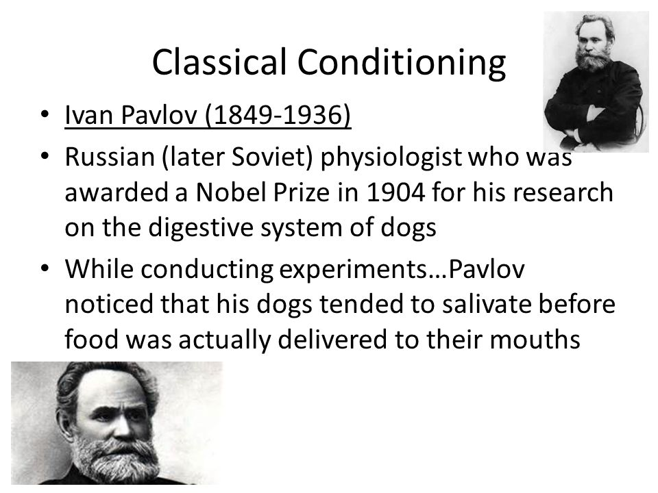 the researcher responsible for discovering classical conditioning was Psychological behaviorism is a research program were responsible for the titles of behaviorism's leading operant or classical conditioning in.
