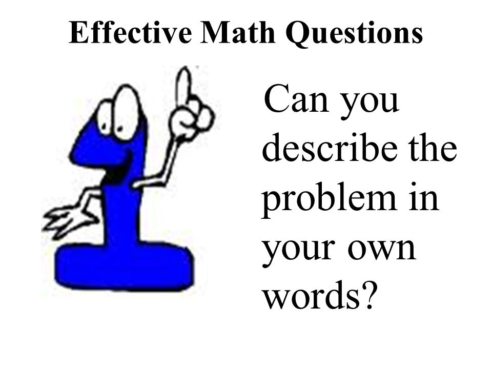 Effective Math Questions