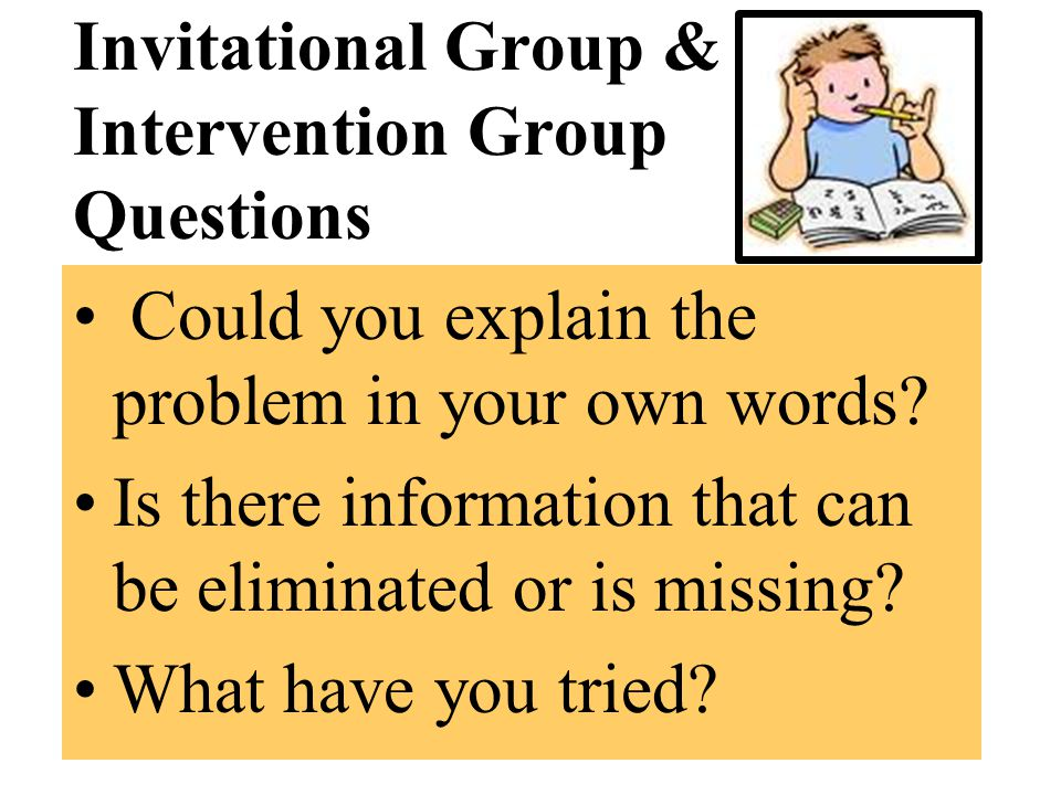 Invitational Group & Intervention Group Questions