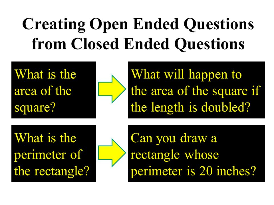 Creating Open Ended Questions from Closed Ended Questions