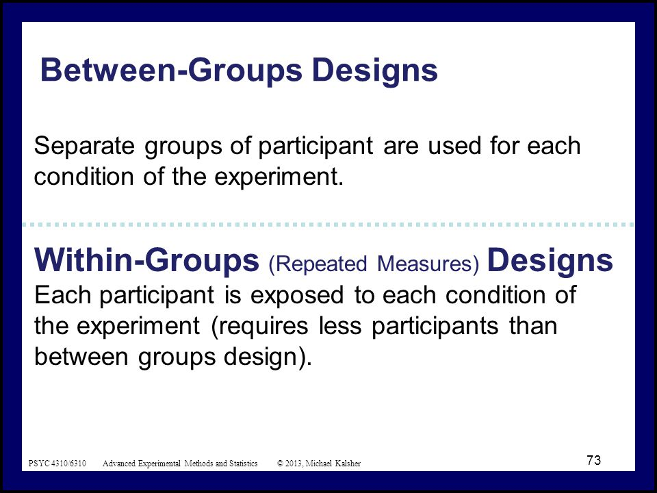 Between group and within group Flashcards | Quizlet