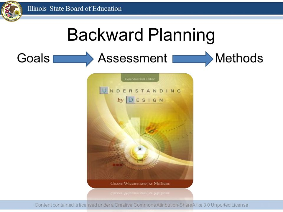 Backward Planning Goals Assessment Methods