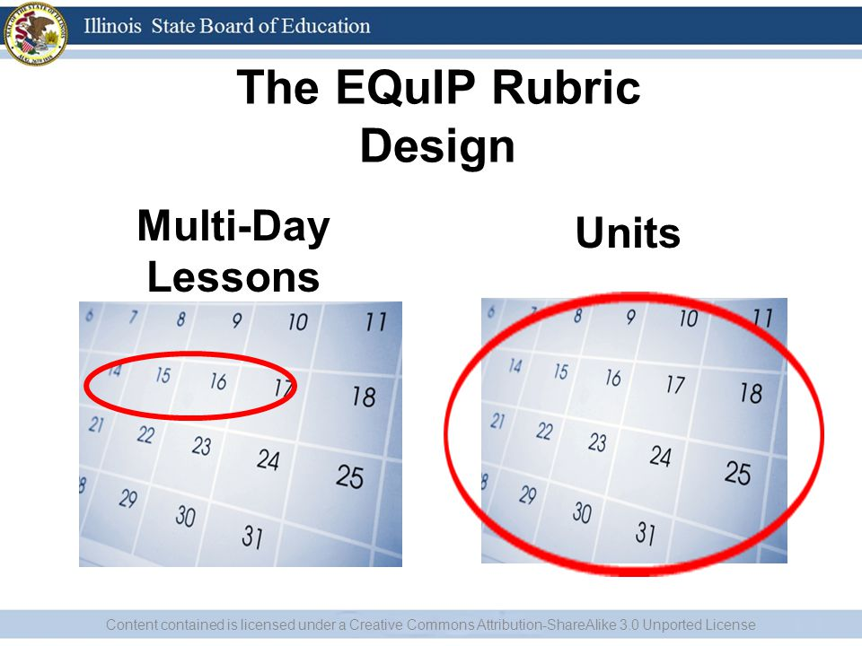 The EQuIP Rubric Design