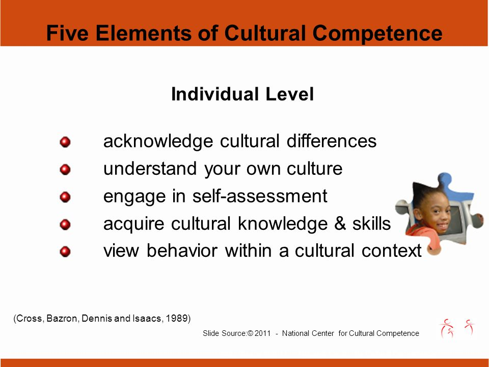 "cultural self analysis Through a self-reflective assessment of their personal values, attitudes, and assumptions about other cultures, and articulating these assumptions and attitudes, the caregiver will gain the ability to sort out or ""bracket"" the influences of their own cultural background in order to provide respectful and unbiased care."