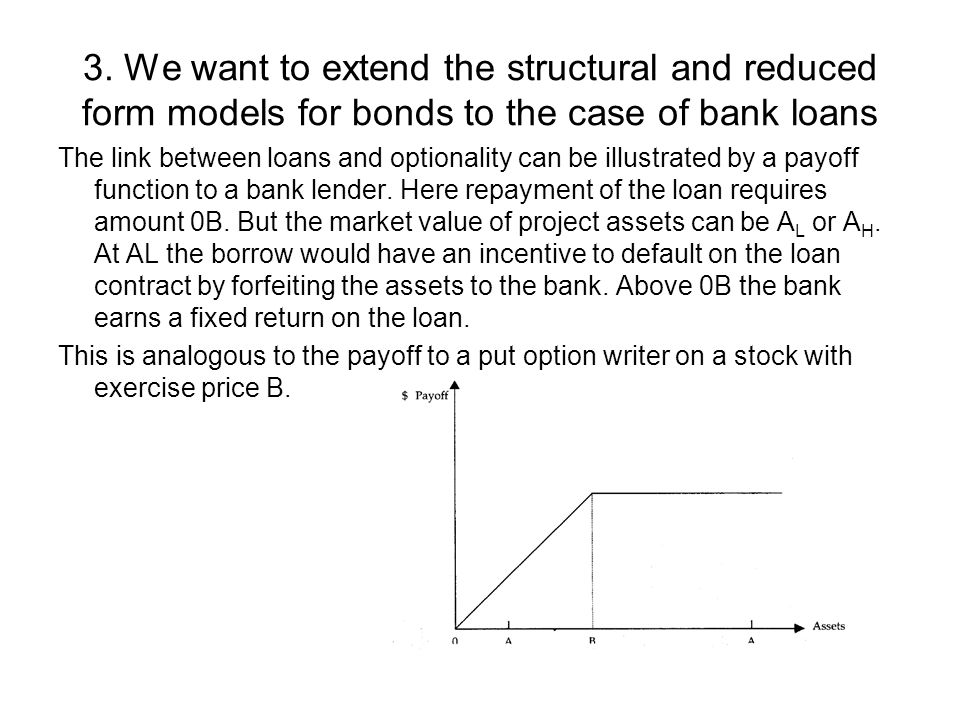 Credit Risk Models Question: What is an appropriate modeling ...
