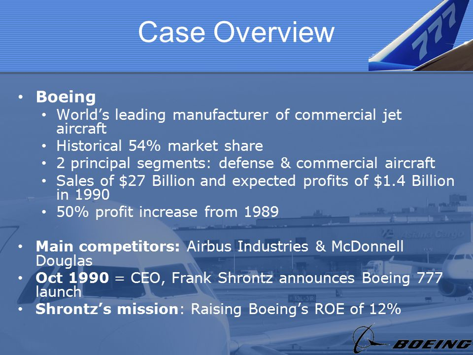 the boeing 777 the financial analysis of product launch Boeing 'moving rapidly' toward 777x launch jun 18 boeing is marketing the -8x as a 777-300er daily analysis on technology advances impacting the.