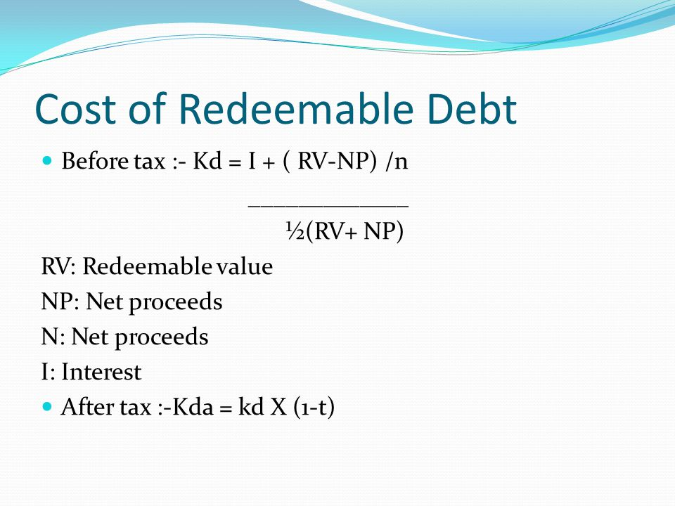 corporate tax cost of debt cost Home newsflash corporate finance: understanding the basics of cost of debt,  cost of equity & cost of capital.