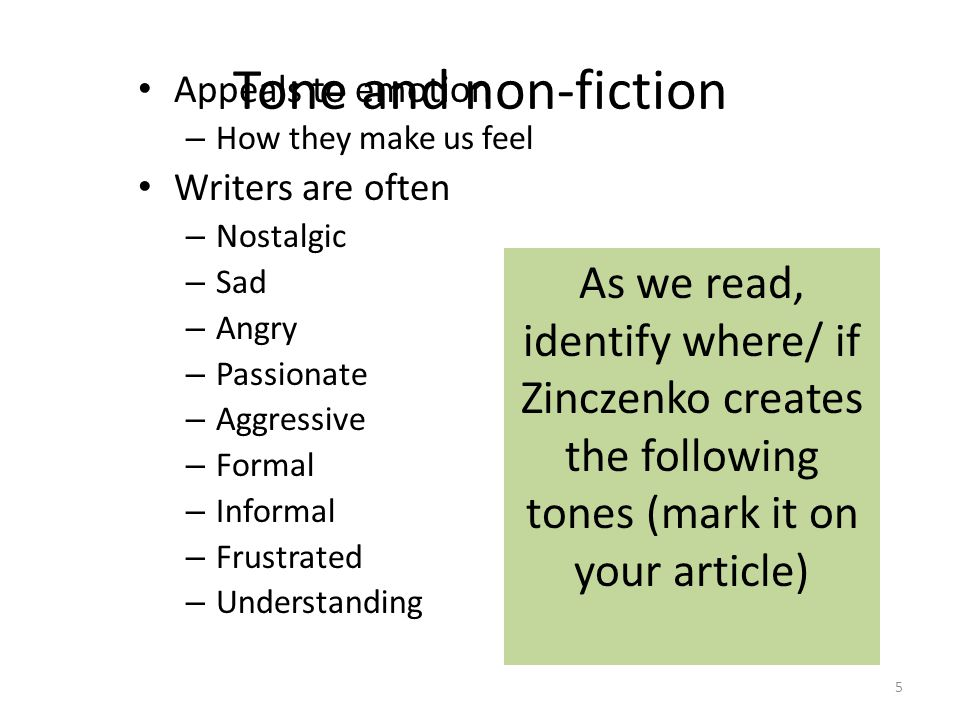 title your paper don t blame the eater reading notes ppt  5 tone
