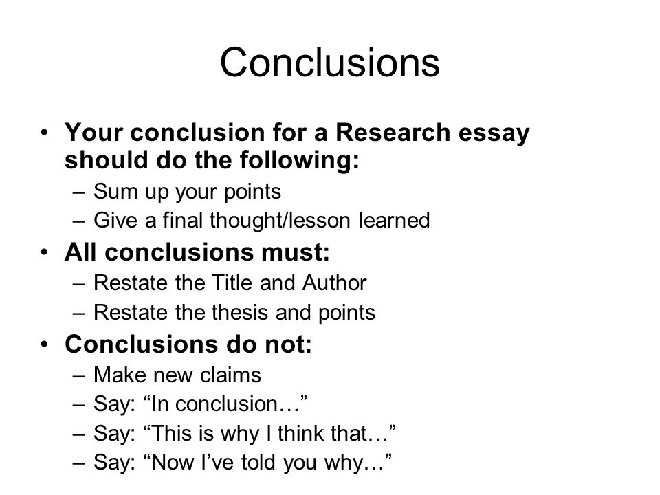 fast food essay ppt video online  conclusions your conclusion for a research essay should do the following sum up your points