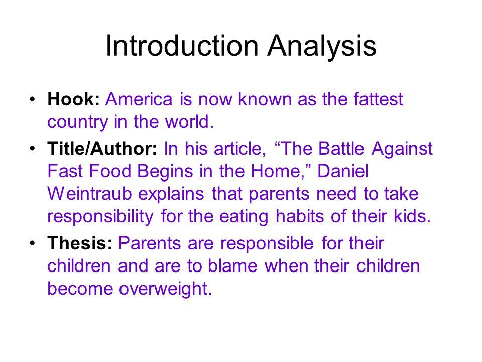How to write a food essay