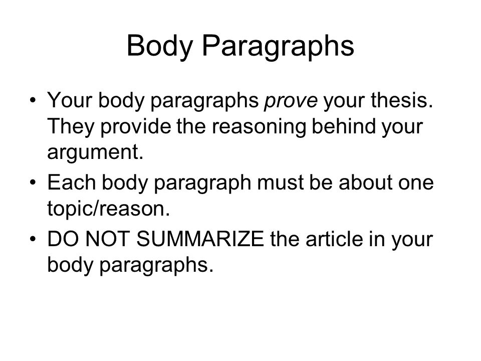 fast food essay ppt video online  body paragraphs your body paragraphs prove your thesis they provide the reasoning behind your argument