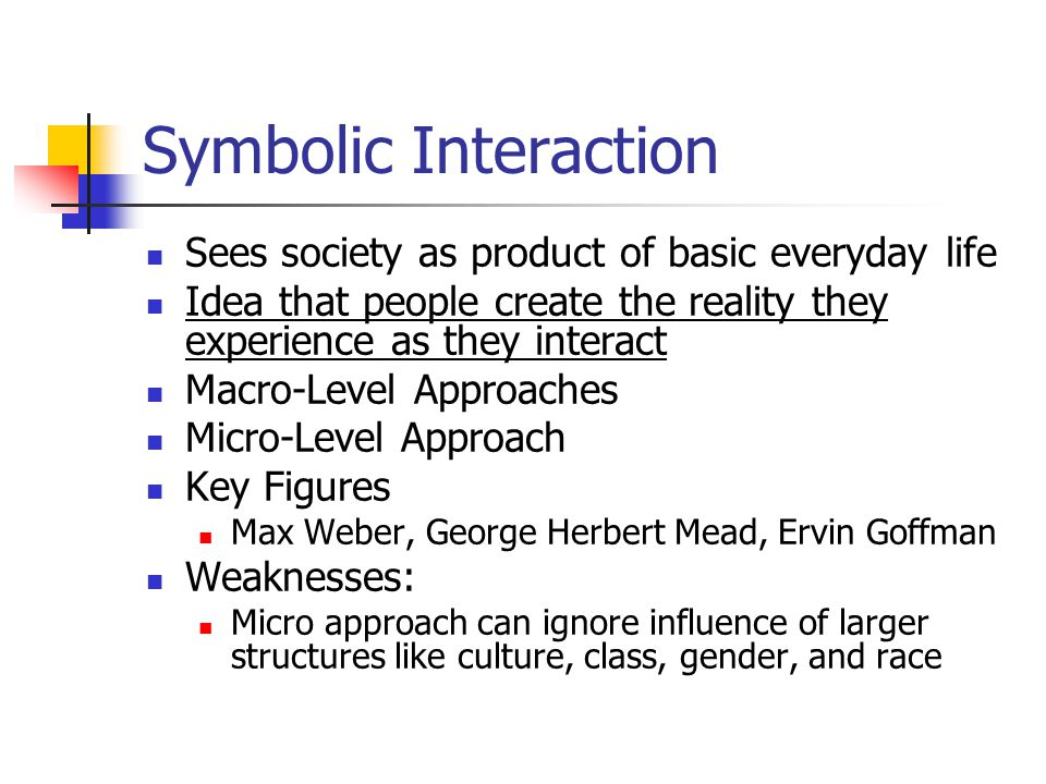 Tutorial in A symbol Interactionism