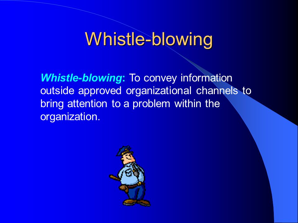 Whistle Blowing In An Organization - Business Ethics