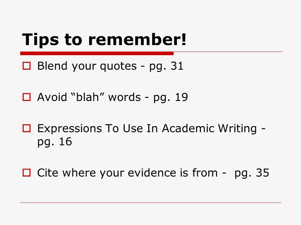 blend quotes in an essay