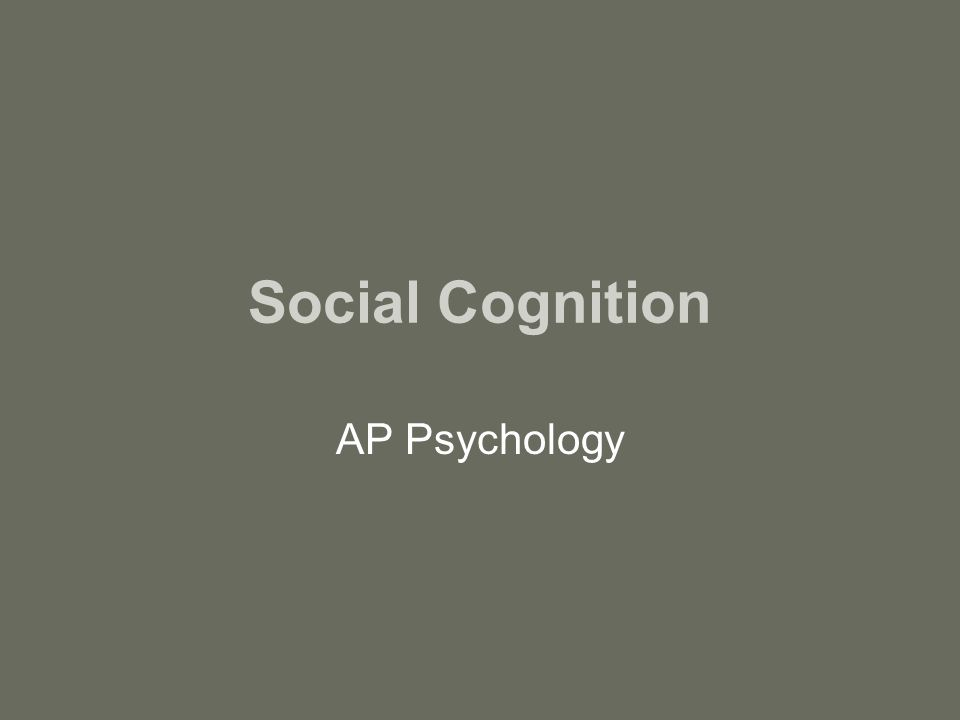 Social Cognition: Research and Applications MSc