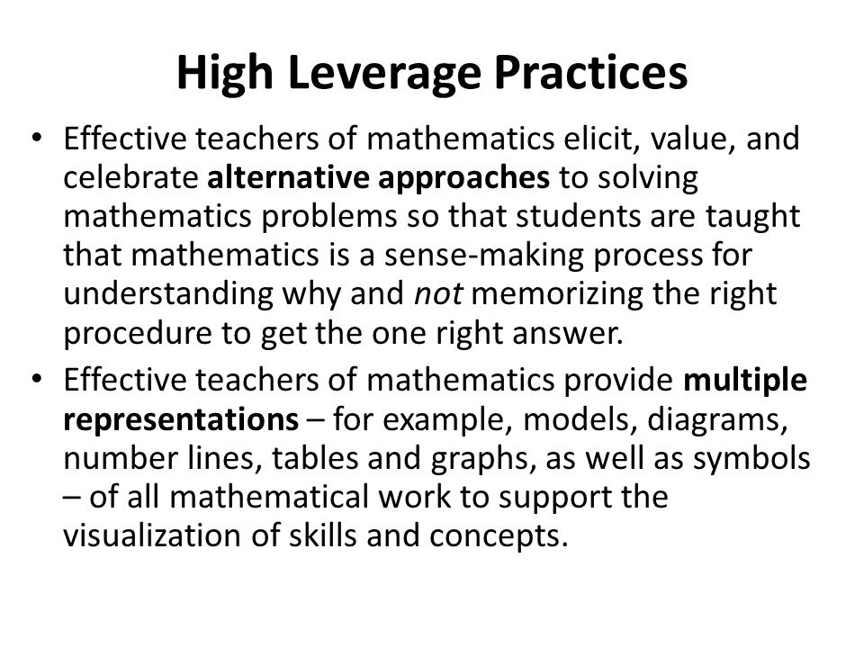 improving the teaching and learning of mathematics Additional resources for improving primary mathematics education, teaching and learning: research for development in resource-constrained contexts example text getting to grips with the realities that shape this work is of increasing value across the world as the levels of displaced peoples rise, creating multilingual learning communities in .