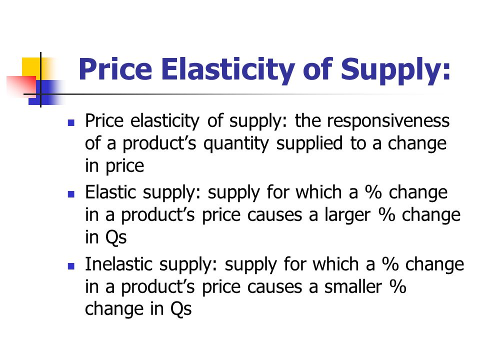 price elasticity and the factors that affect labor supply and demand
