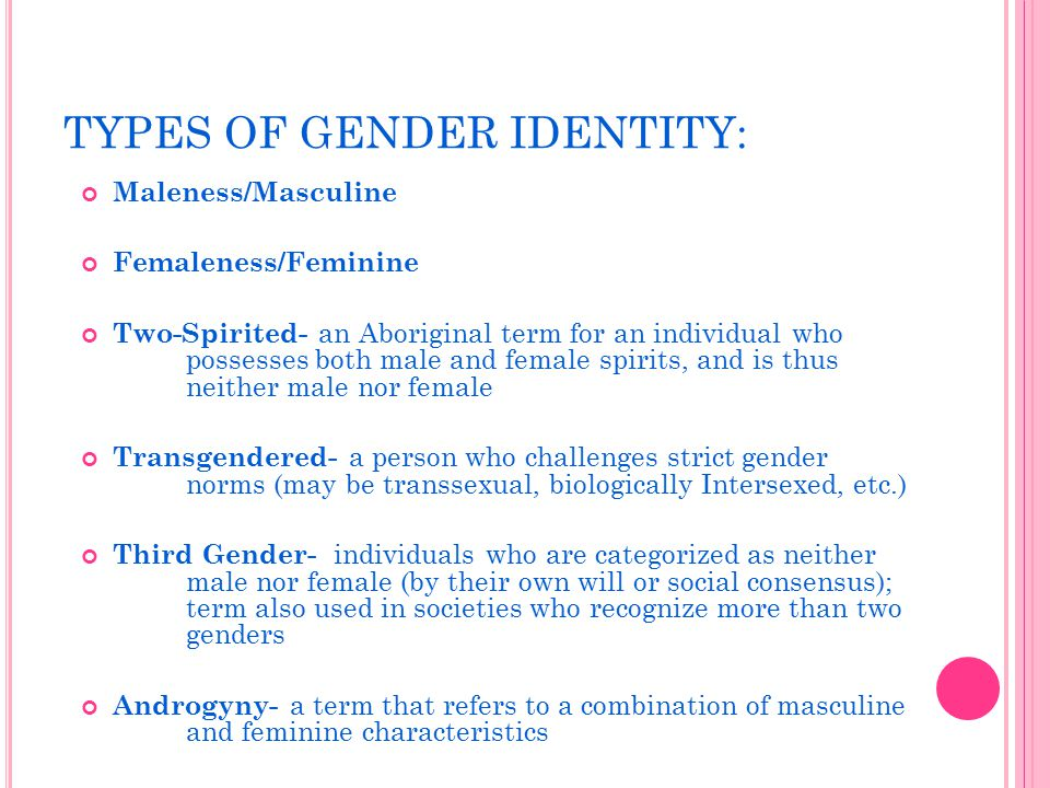 how the application of gender roles affects identity and individuality Identity is a core construct in psychology because it refers to how a person addresses issues dealing with who that person is important theorists studying the concept of identity, like erikson, marcia, and higgins, assert that identity is organized,is learned, and is dynamic, and a subjective evaluation of an individual's identity has emotional consequences for that individual.