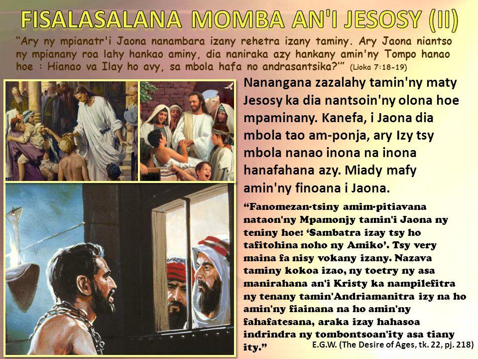 FISALASALANA MOMBA AN I JESOSY (II)