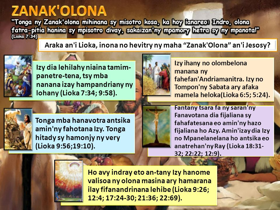 Araka an i Lioka, inona no hevitry ny maha Zanak Olona an i Jesosy