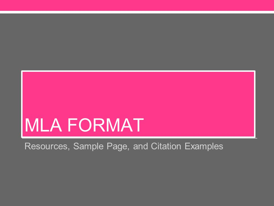 why mla format An introduction to mla formatting with some specific mla format examplesthe mla format is one of the most popular and simplest forms used to attribute information.