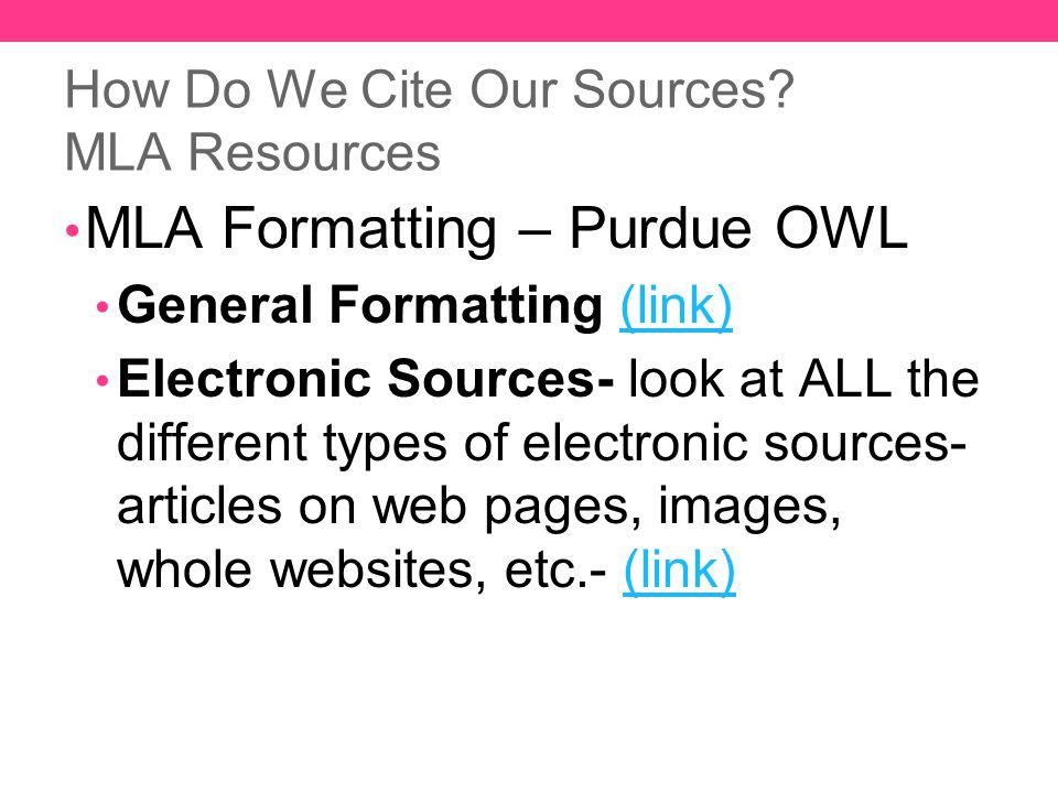 Mla Format For Web Sources