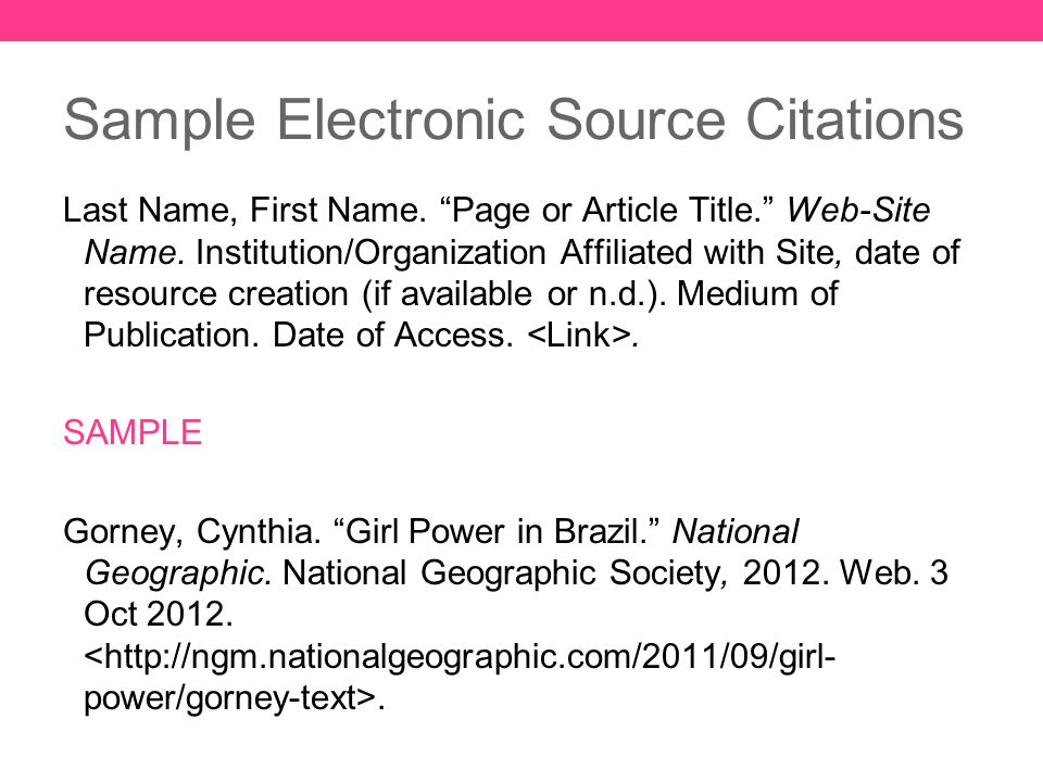 mla format resources  sample page  and citation examples