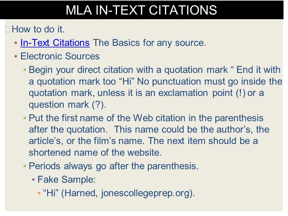proper in text citation mla