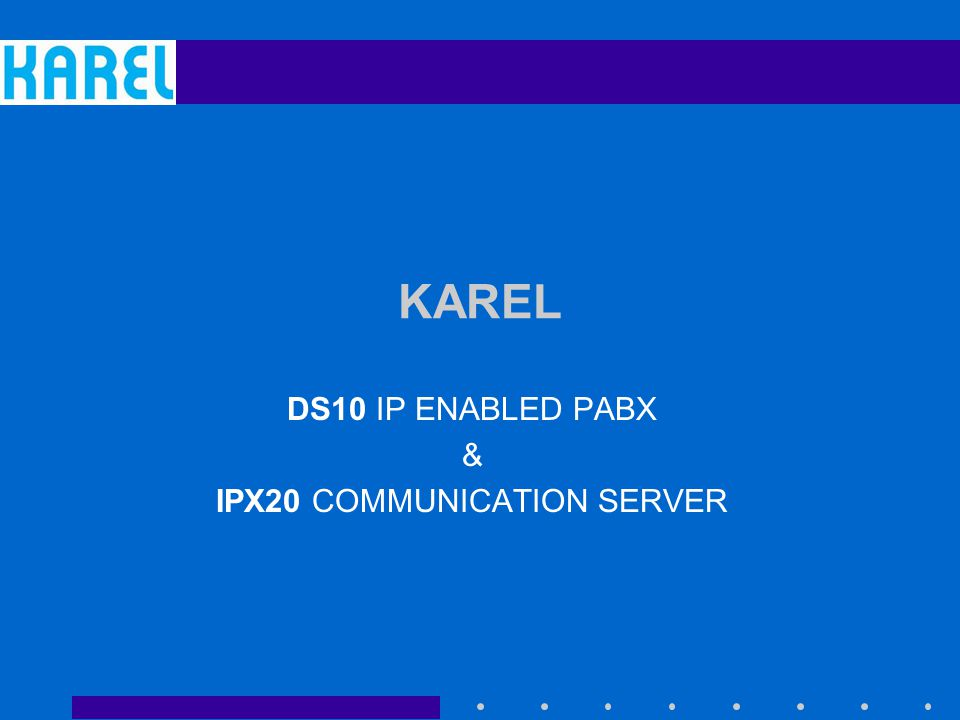 DS10 IP ENABLED PABX & IPX20 COMMUNICATION SERVER
